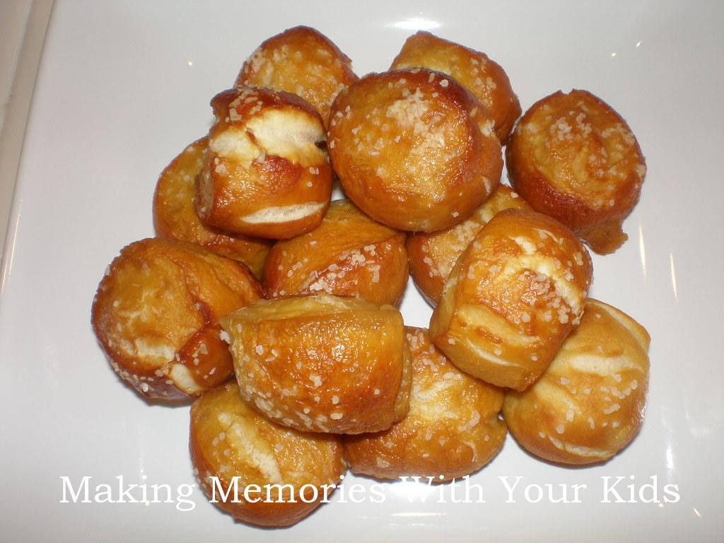 Soft Pretzel Bites - Making Memories With Your Kids