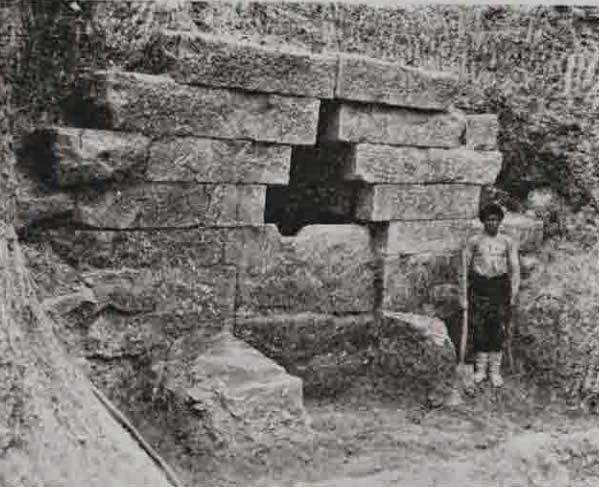 Entrance to the Thracian tomb near Mezek Bulgaria