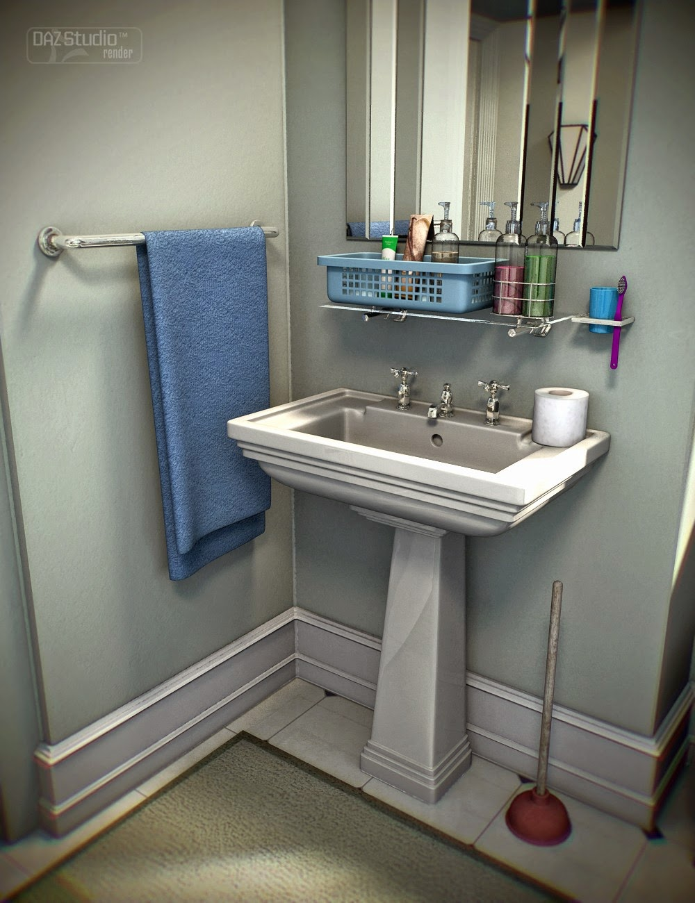 Download daz studio 3 for free daz 3d collective3d for Bathroom things