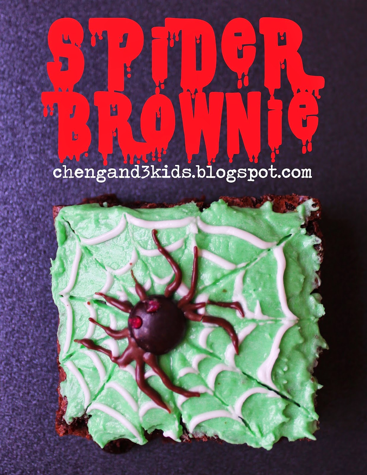 Spider Brownie for Halloween by chengand3kids.blogspot.com