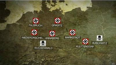 auschwitz-birkenau Image caption Seis de los campos de concentración eran utilizados predominantemente para trabajos forzados, mientras que Auschwitz y Buchenwald eran usados para e