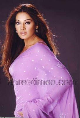 BIpasha Basu In Purple saree