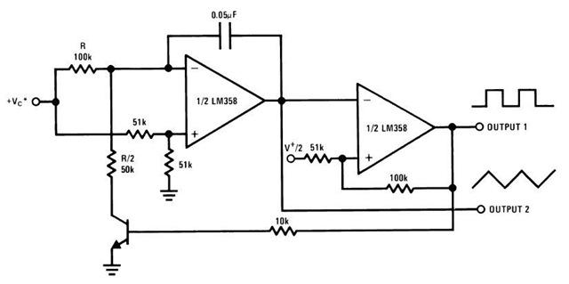 voltage controlled oscillator using transistor