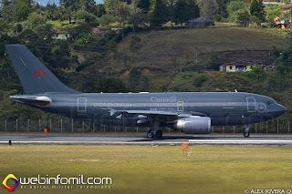 Airbus CC-150 Polaris en el momento del despegue hacia los ejercicios conjuntos con la  Fuerza Aérea de Colombia.