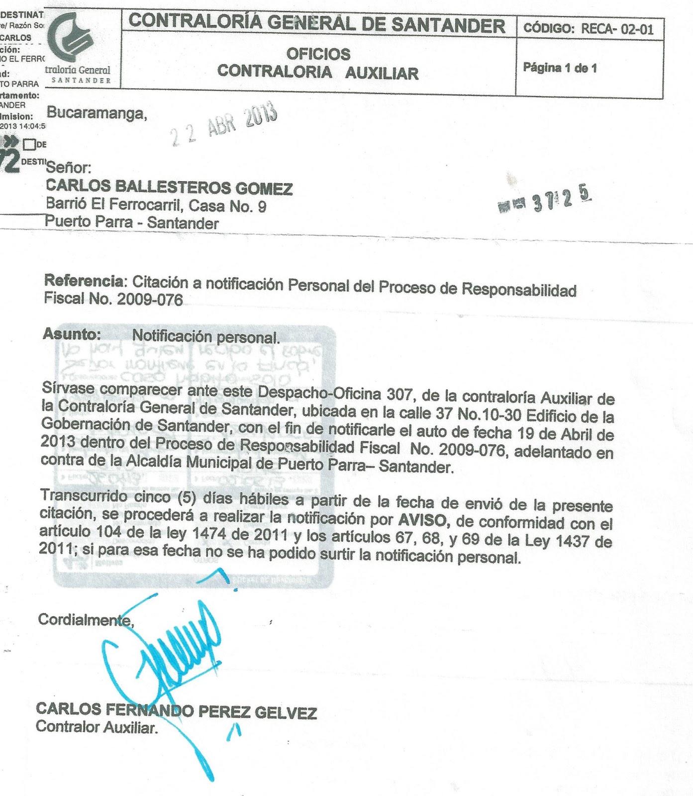 de Santander: AUTO EN GRADO DE CONSULTA DEL PROCESO DE RESPONSABILIDAD