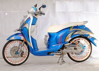modifikasi-honda-scoopy-air-brush-biru