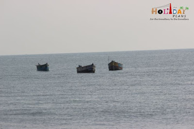 Boats in the Indian Ocean near dhanushkodi