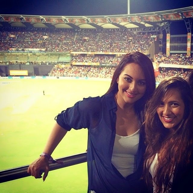Sonakshi Sinha at Wankhede Stadium to watch cricket