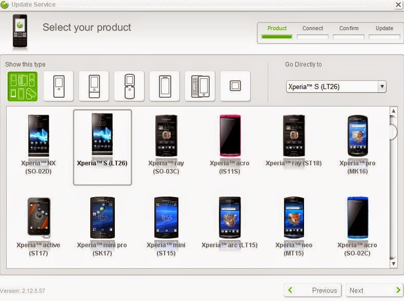 Sony Xperia format