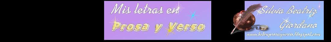 Prosas y Versos de Silvia B.©