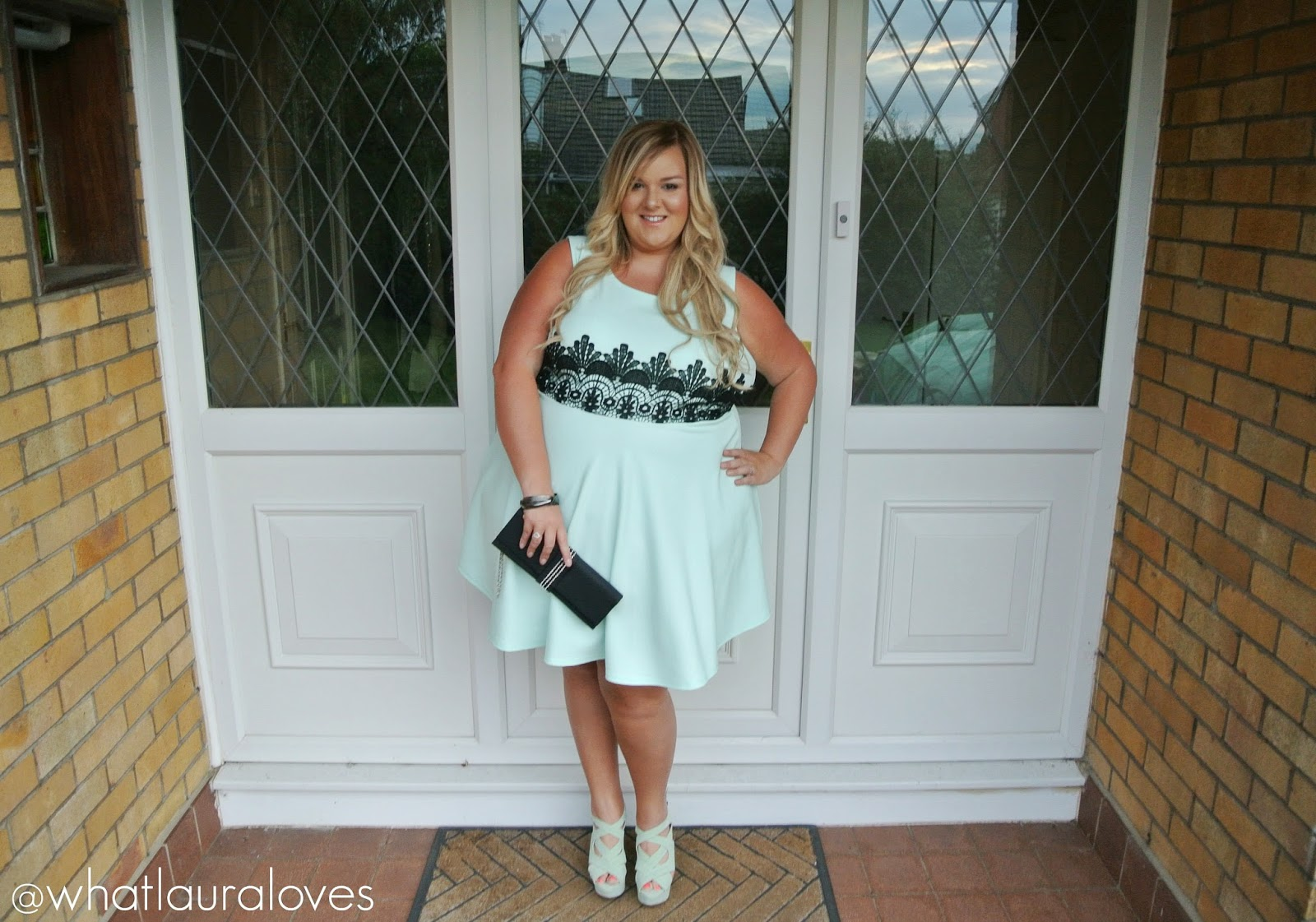 WhatLauraWore: Plus Size Mint Dress   What Laura Loves