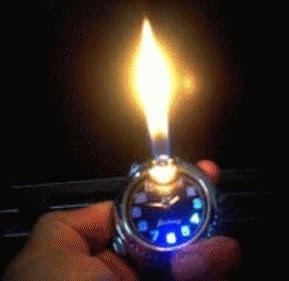 Jam Tangan Korek Api dan Lampu