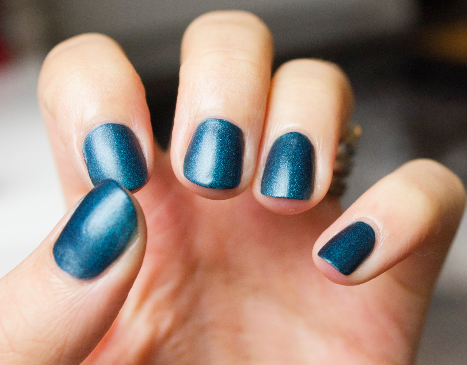 manucure mani bleu blue metalisé nail art