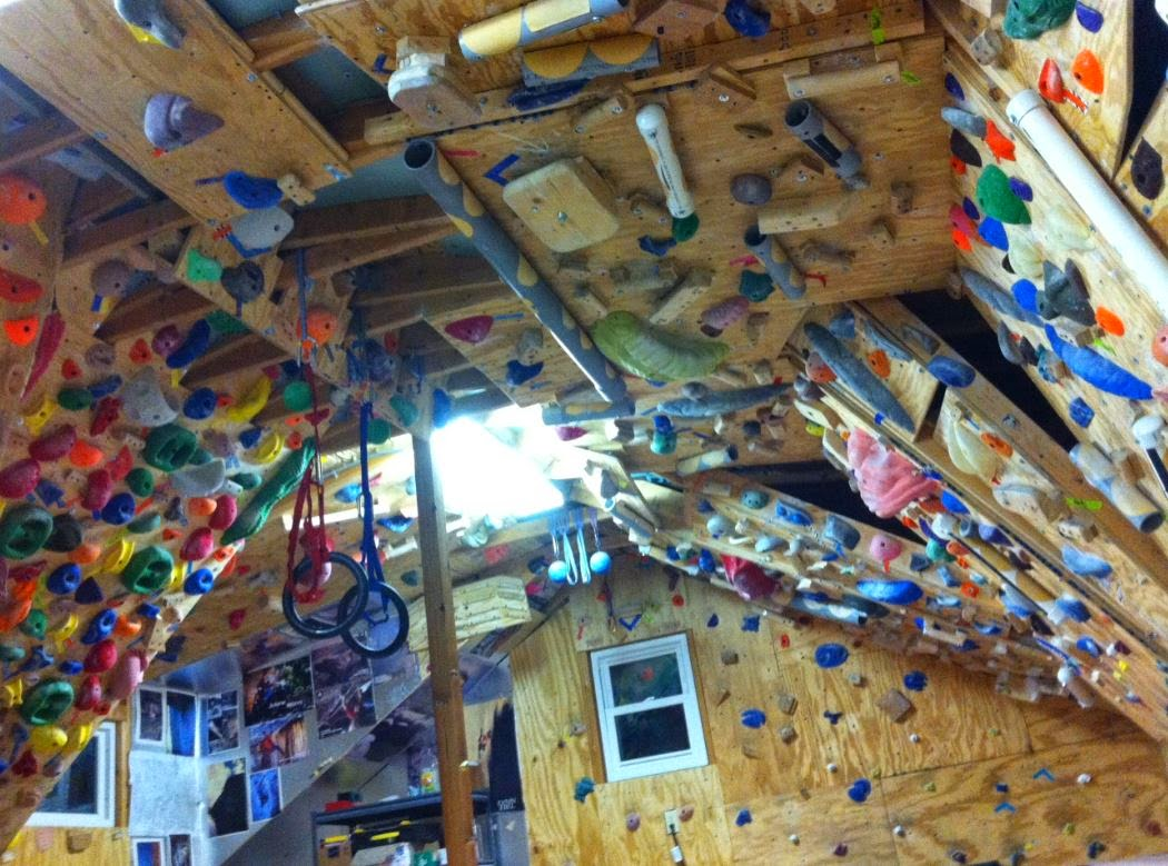 Bouldering in athens county diy holds and walls updated for Home climbing