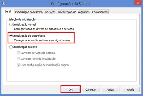 Inicialização de diagnóstico do Windows