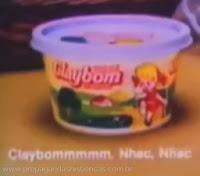 Propaganda da Margarina Claybom - 1988. Campanha com a famosa mascote.