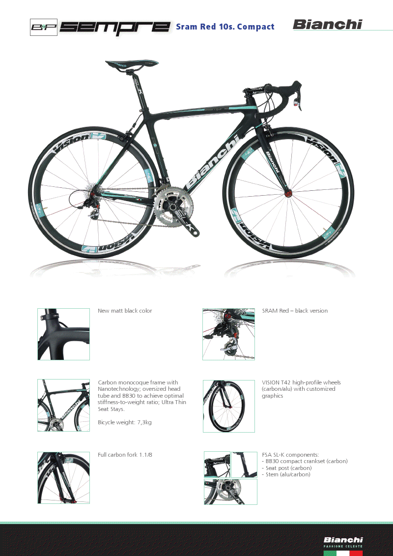 3a2366ab9 Bianchi is launching a limited edition of the Sempre model in matte black  with SRAM Red