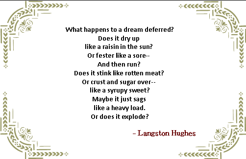 dream deferred essays