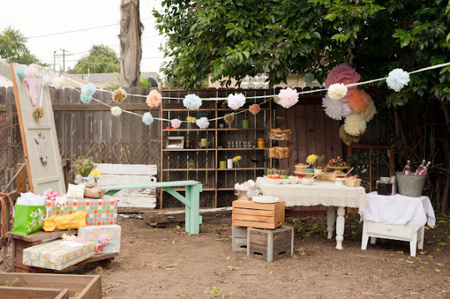 bre styled simple back yard baby shower