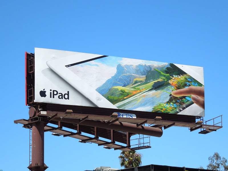 iPad finger painting app billboard