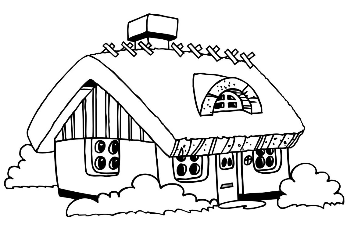 Kids Under 7: Houses and Homes Coloring Pages