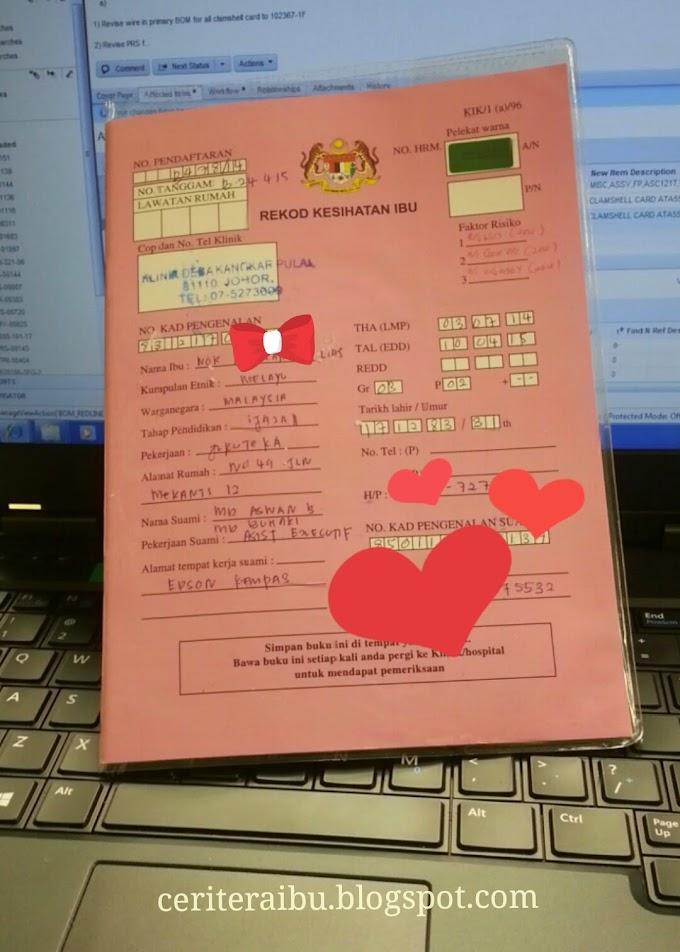 Diary 3rd Pregnancy :: Yeahhh..Dah Buka Buku Pink!!