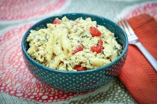 pressure-cooker-chicken-mozzarella-pasta