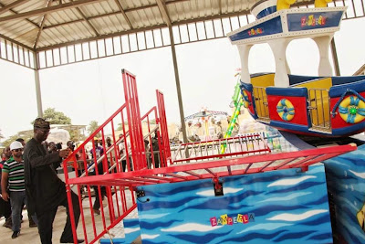 Photos; Governor Fashola Inspects Apapa Amusement Park In Lagos