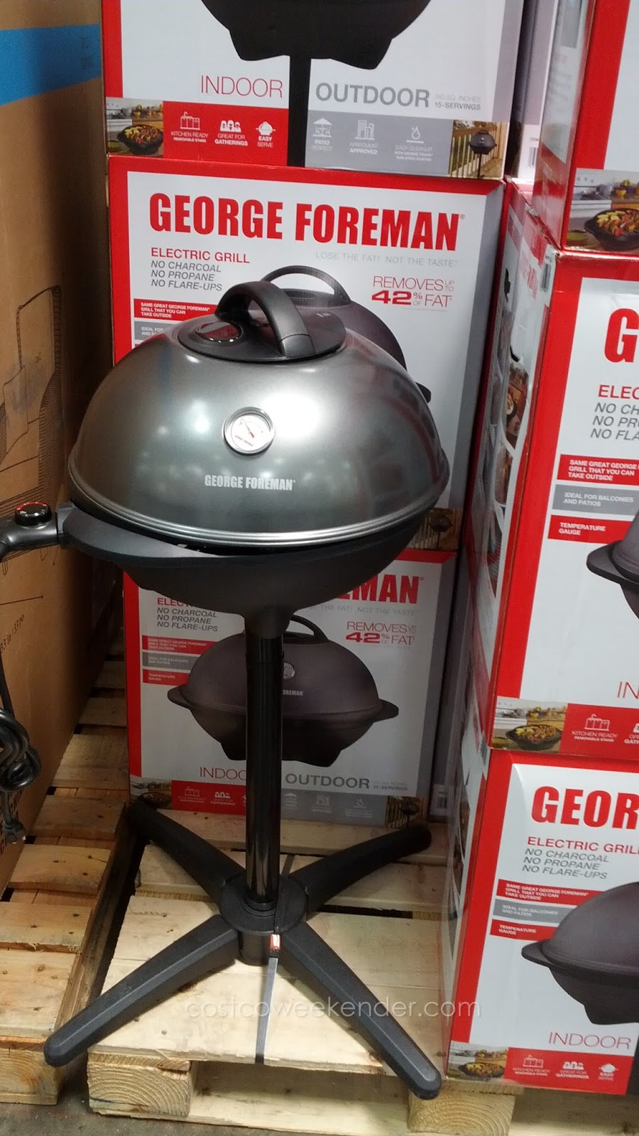 George Foreman Indoor/Outdoor Electric Grill: Great For Your Patio Or  Outdoor Deck