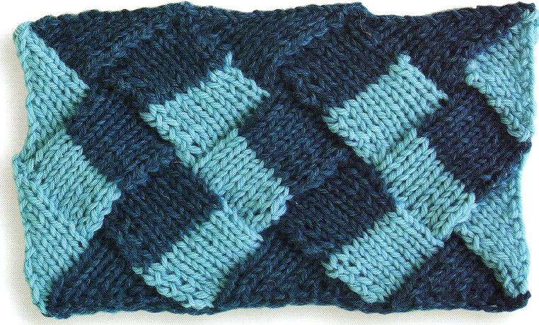 Knitting Stitch Patterns Entrelac : Knitting Patterns Free: Entrelac Knitting Pattern #1: Stockinette stitch