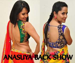 Anasuya Hot Back Show