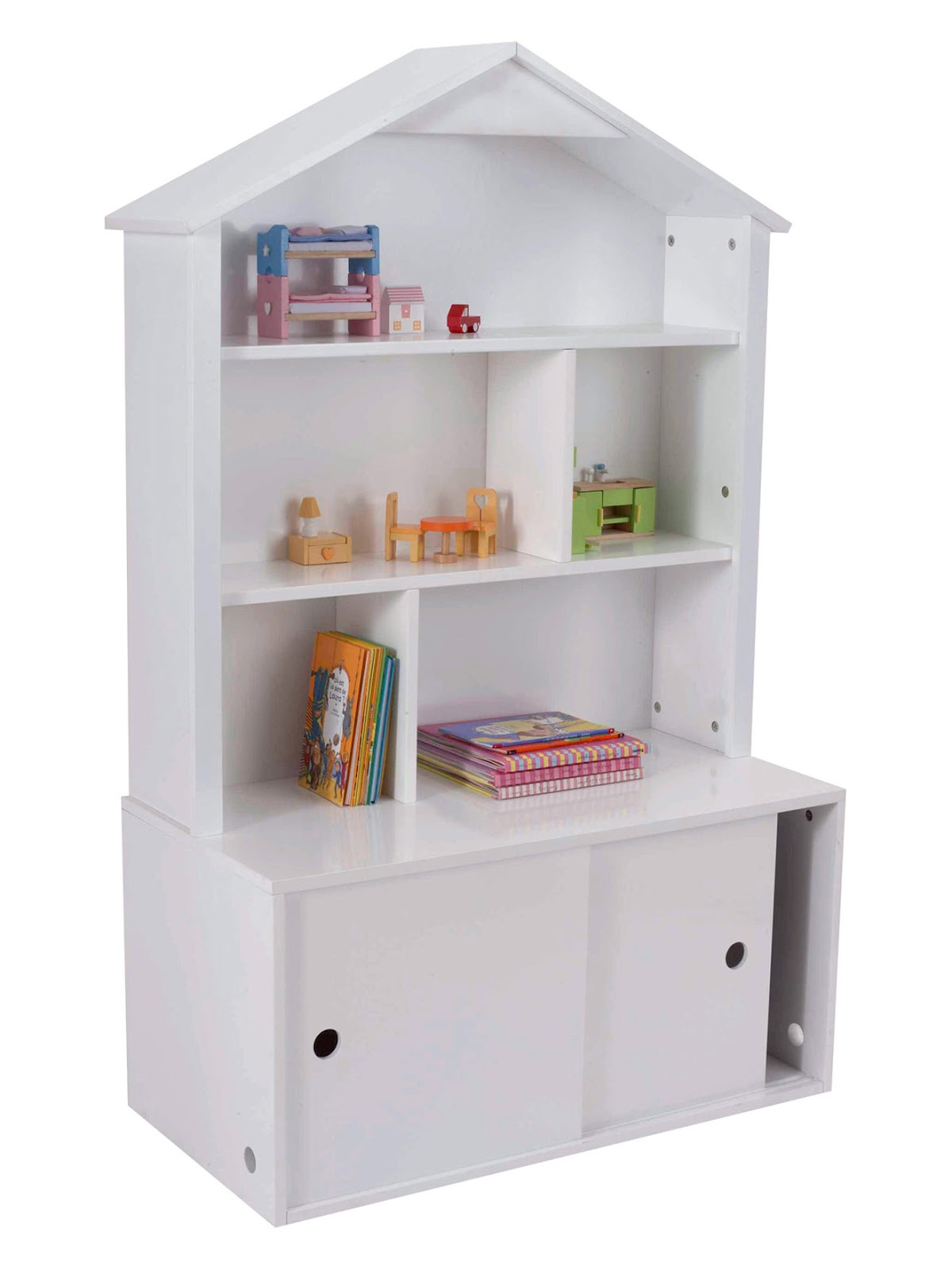 Casitas estanter as librer a para ni as decoractual for Casita de plastico para jardin