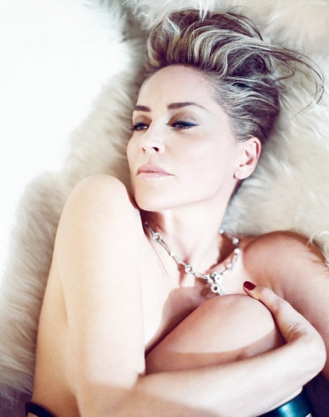 Sharon Stone topless in Spanish Vanity Fair