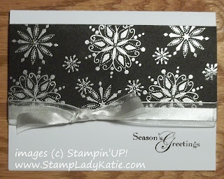 Card made with Stampin'UP! Stamp set: Snow Swirled