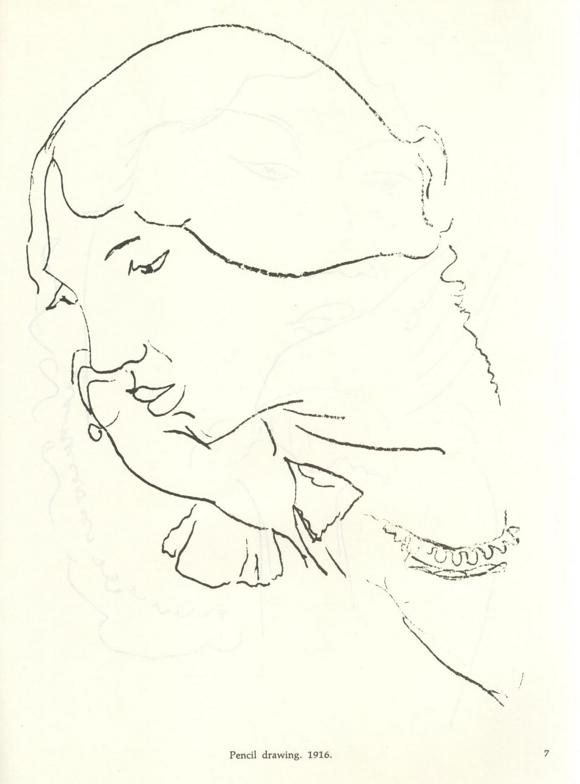 Line Drawing By Matisse : Un rincón sombra mayo