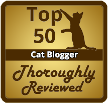 Honored as one of the Top 50 Cat Bloggers