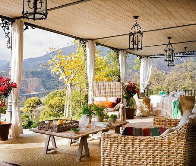 ESTILO RUSTICO: Galerias Rusticas / Rustic Style Porches