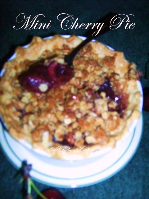 In Cindy's Kitchen: Mini Cherry Crisp Pies: Farewell Summer