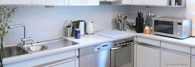 helle Arbeitsplatte für eine renovierte Siematic Küche