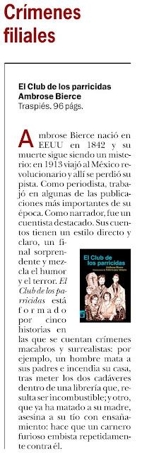 """""""El club de los parricidas"""" en Pérgola"""