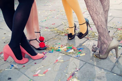 Shoes, bachelorette party, party shoes, confetti, celebration, celebration shoes, bachelorette party ideas, wholesome bachelorette party ideas, low-key bachelorette party ideas, Catholic wedding planning, Catholic wedding blog, Catholic brides