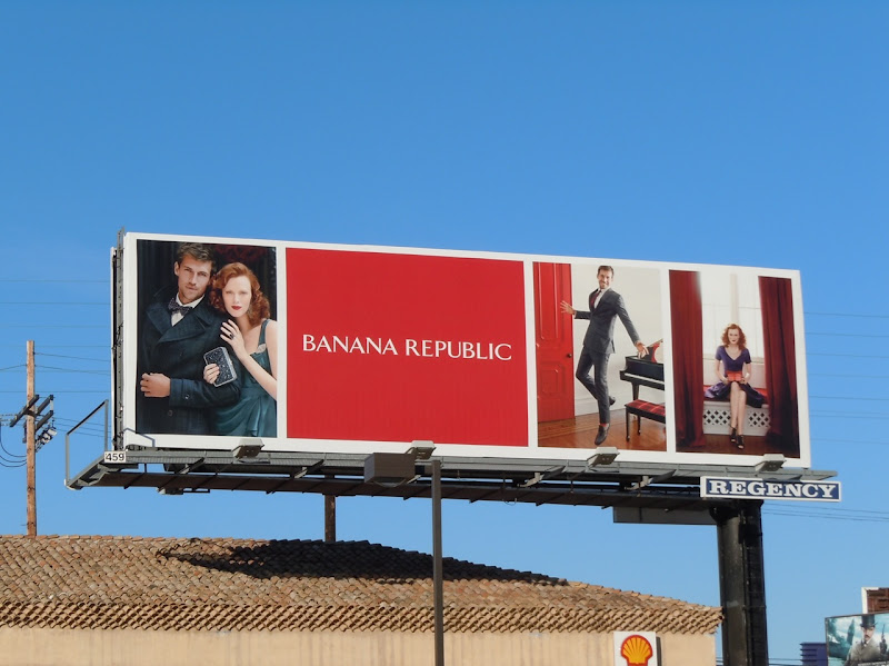 Banana Republic Holidays couple billboard