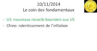 news économiques actualités boursières 10/11/2014