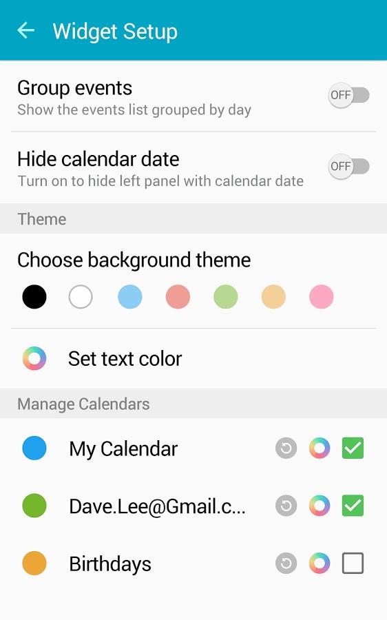 Calendar Widget Android Agenda v5.2 Apk