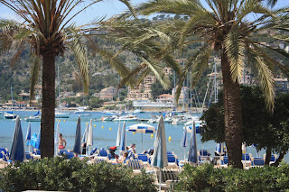 Promenade of Port de Soller in Mallorca