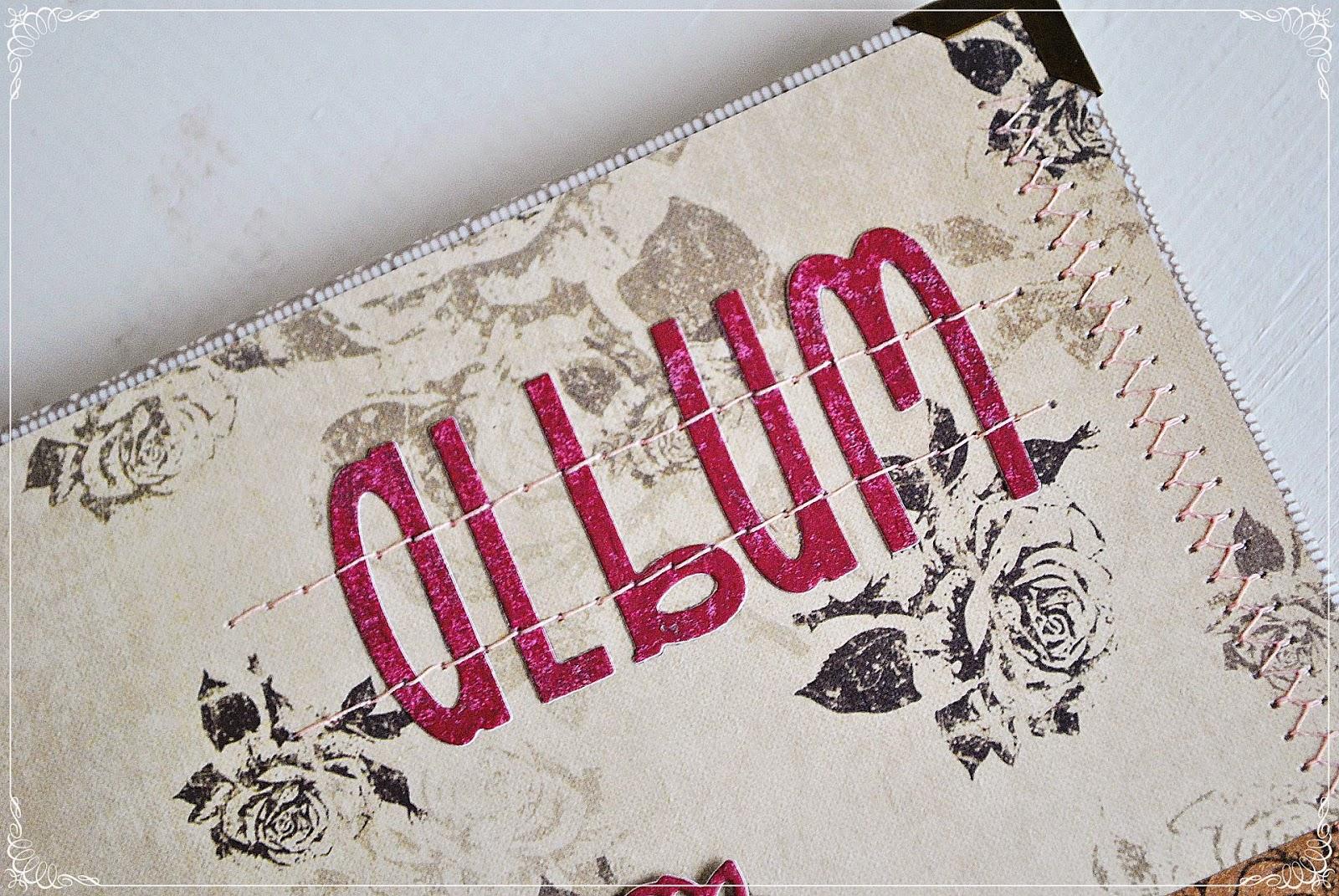 album ślubny vintage scrapbooking