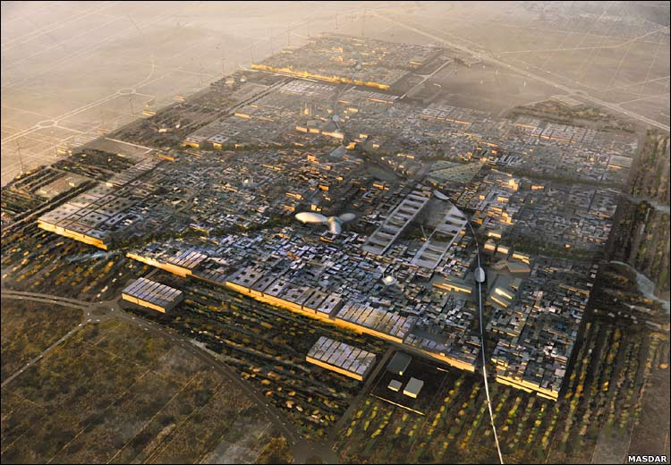 Traveler guide world 39 s first sustainable city for Masdar abu dhabi