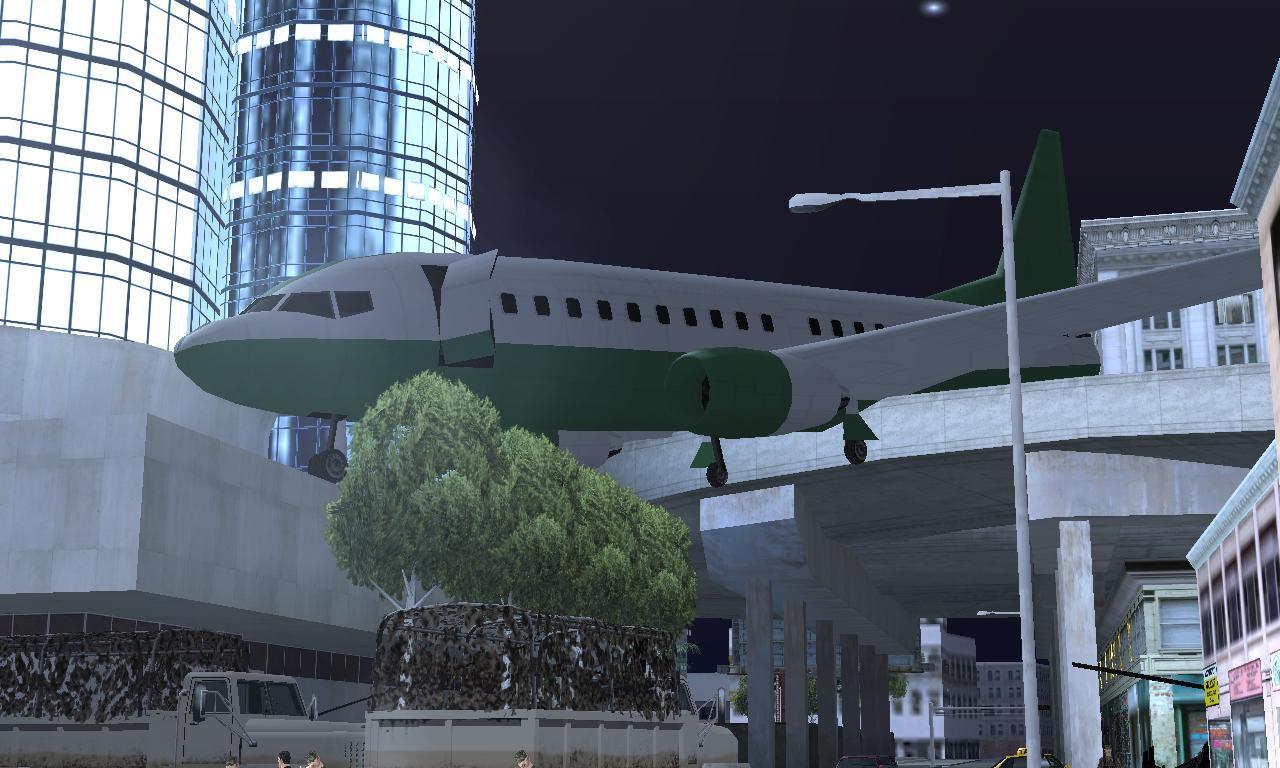 Kecelakaan pesawat di game gta