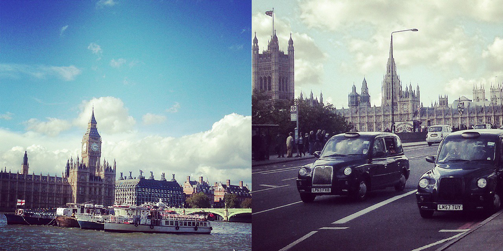 Big Ben, taxi Londyn