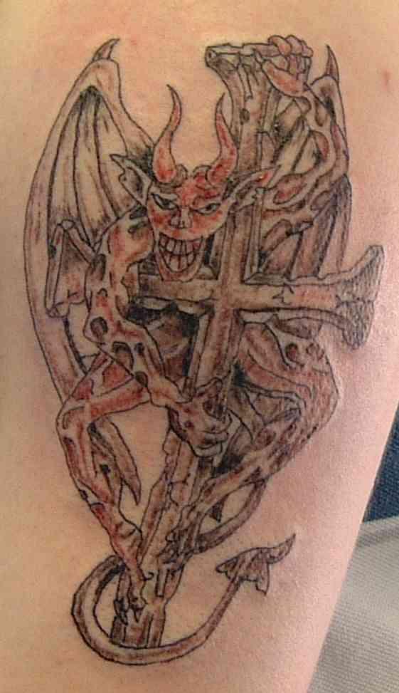 My tattoo designs devil wings tattoos for Satanic tattoo designs